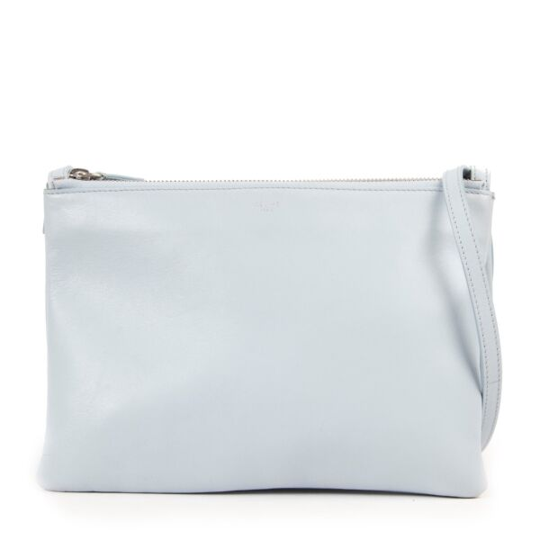 Give this Celine Light Blue Trio Crossbody Bag a secondlife online or in store at Labellov