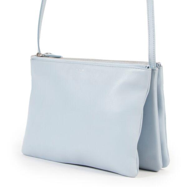 Celine Light Blue Trio Crossbody Bag
