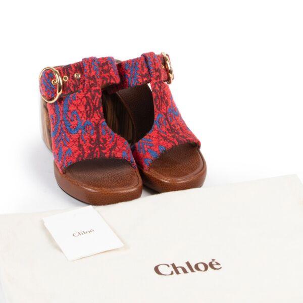 Chloé Multicolor Mules Sandals - Size 37,5