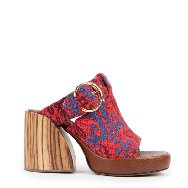 Shop safe online 100% authentic second hand Chloé Multicolor Mules Sandals - Size 37,5 online or in store at Labellov