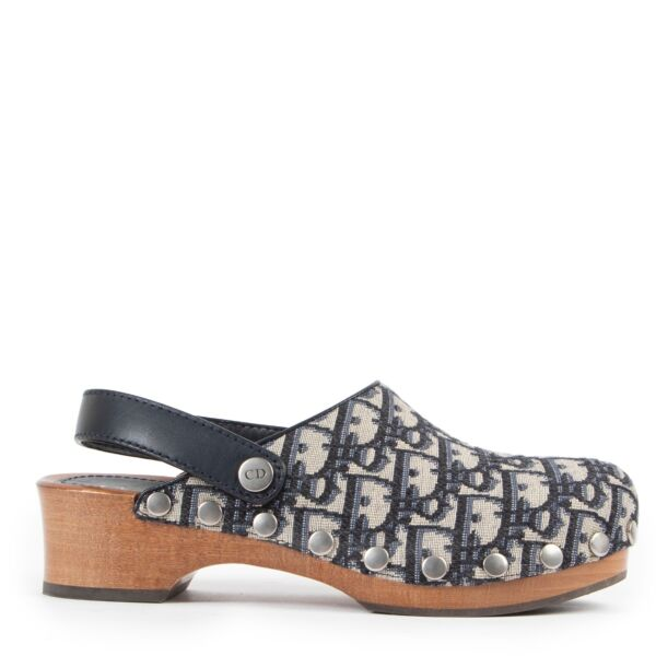 Christian Dior Diorquake Sabot Canvas Obique Deep Blue online or step by in store at Labellov Antwerp