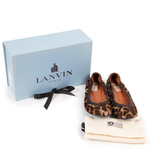 Lanvin Leopard Printed Flats - Size 41