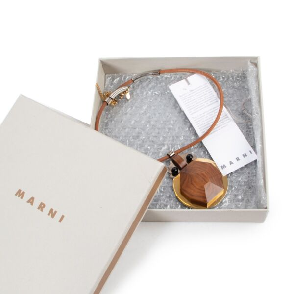 Marni Wood and Resin Necklace