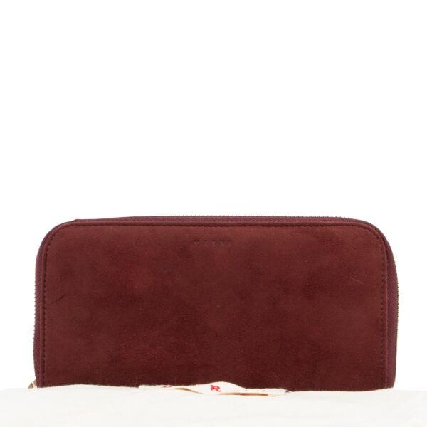 Marni Burgundy Wallet