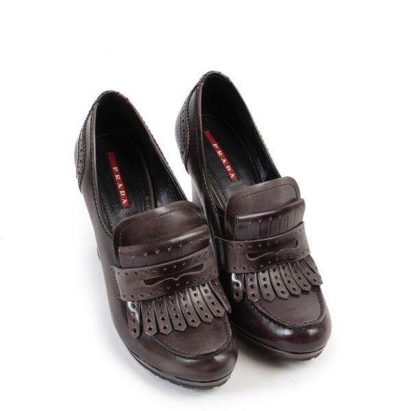 Prada Taupe Leather Pumps - Size 38,5