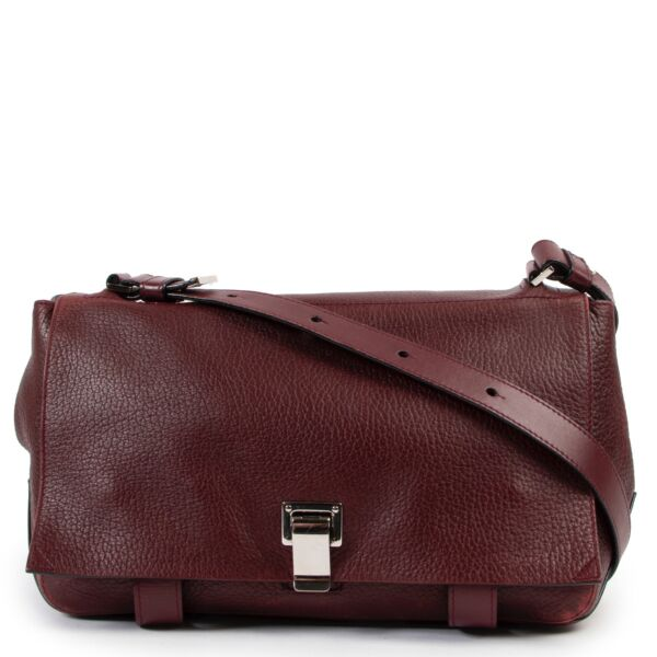 Shop safe online at Labellov in Antwerp this 100% authentic second hand Proenza Schouler Burgundy Crossbody Bag
