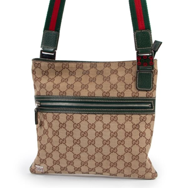 Gucci Monogram Messenger Crossbody online or in store available at Labellov Antwerp. Buy and sell your designer items at a reasonable price.