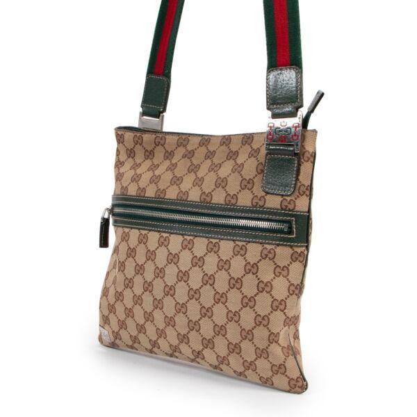Gucci Monogram Messenger Crossbody Bag