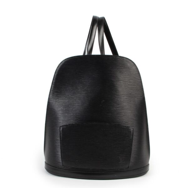 Original No Fake Louis Vuitton Black Epi Leather Gobelins Backpack on Labellov Luxury Vintage site for 2nd hand goods in good condition