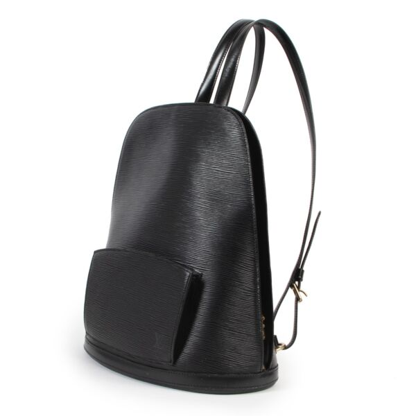 Louis Vuitton Black Epi Leather Gobelins Backpack