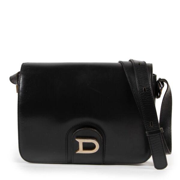 Delvaux Black D Flap Crossbody