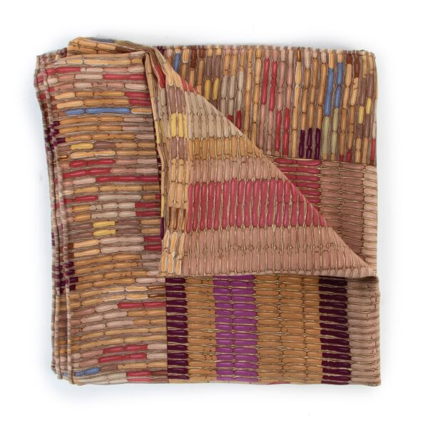 Shop safe online 100% authentic second hand Delvaux Multicolor Earthtones Scarf in very good condition at Labellov in Antwerp.