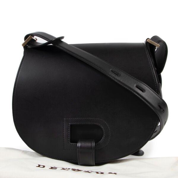 Delvaux Black Kate Crossbody Bag