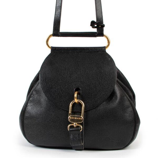 Delvaux Blue Cerceau Shoulder Bag