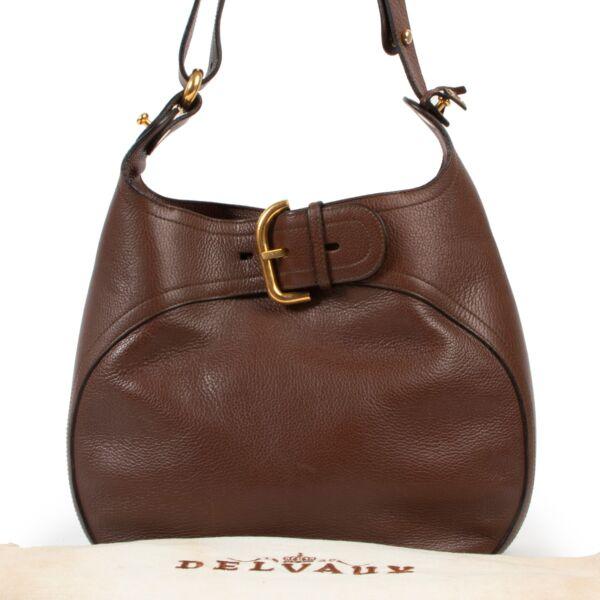 Delvaux Brown Souverain Shoulder Bag
