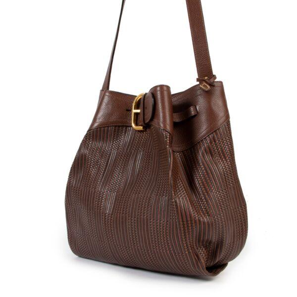 Delvaux Brown TDC Souverain Shoulder Bag