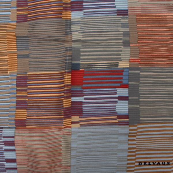 Delvaux Multicolor Silk Scarf