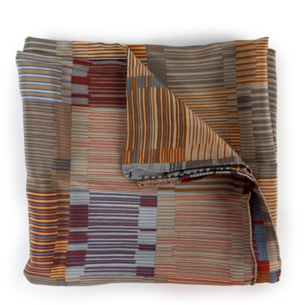 buy vintage Delvaux Multicolor Scarf at Labellov for the best price 100% authentic