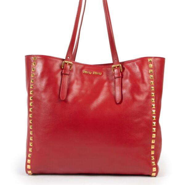 Miu Miu Shopping Fuoco Red Bag