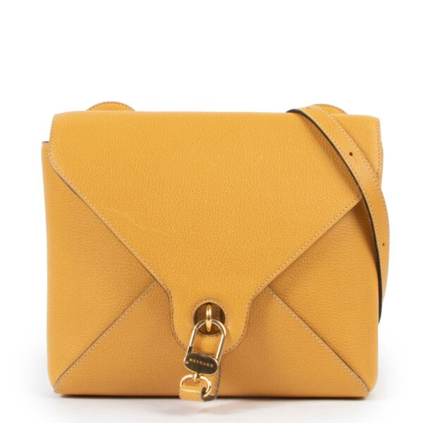 Delvaux Yellow Leather Crossbody