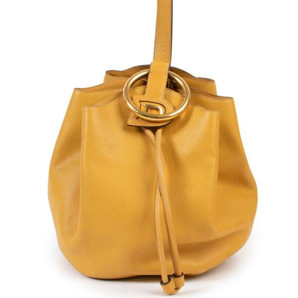 Delvaux Yellow Rose des Vents Shoulder Bucket Bag