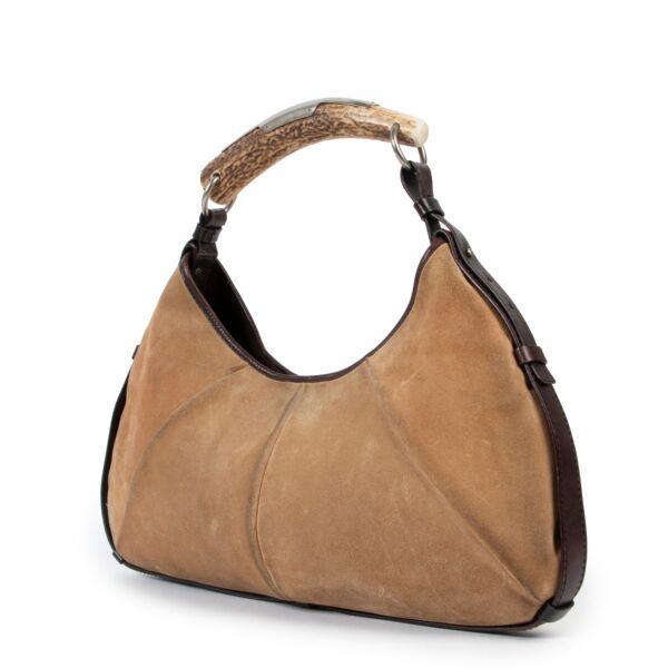 Saint Laurent Beige Mombasa Shoulder Bag
