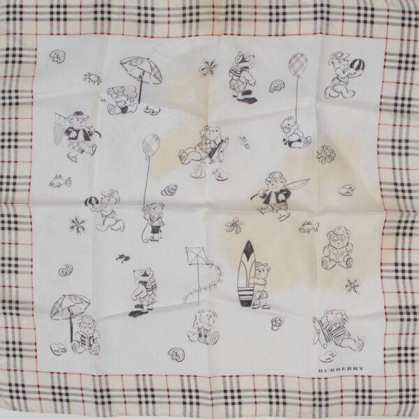 Burberry Bear Silk Pochette Scarf