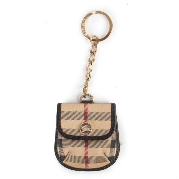 Burberry Monogram Key Chain Pouch
