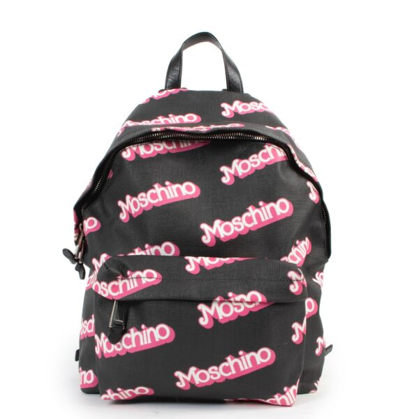 Shop safe online 100% authentic second hand Moschino Black Barbie Backpack at the right price at Labellov in Antwerp.