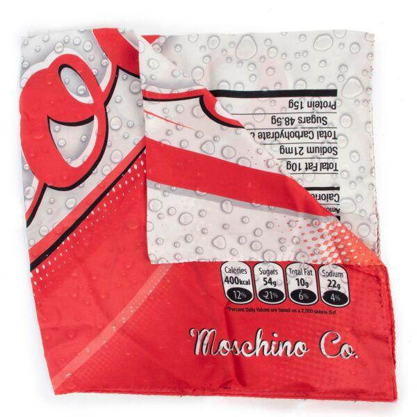 Moschino MoCola Drink Printed Twill Silk Scarf