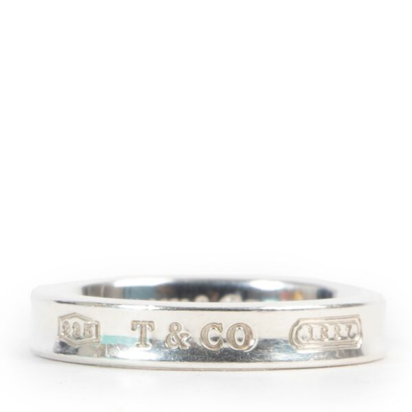 Tiffany & Co 1837™ Ring in Silver, Narrow - Size 55