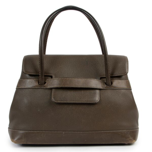 Delvaux Green Leather Top Handle