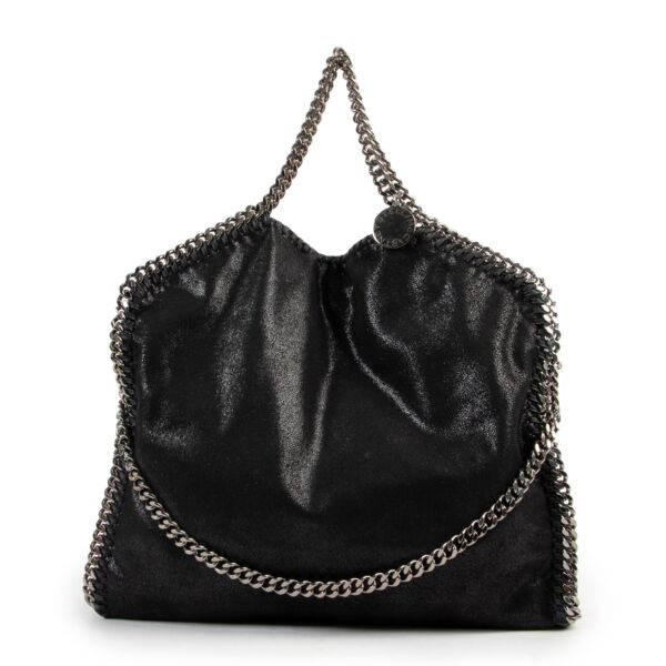 Get this Stella McCartney Black Falabella Tote Bag at Labellov online or in store.