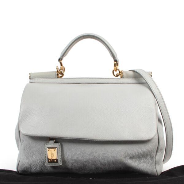 Dolce & Gabbana Grey 'Miss Sicily' Shoulder Bag