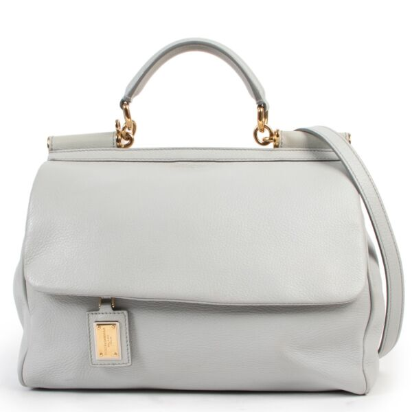 Shop safe online 100% authentic second hand Dolce & Gabbana Grey 'Miss Sicily' Shoulder Bag in very good condition at the right price at Labellov in Antwerp.