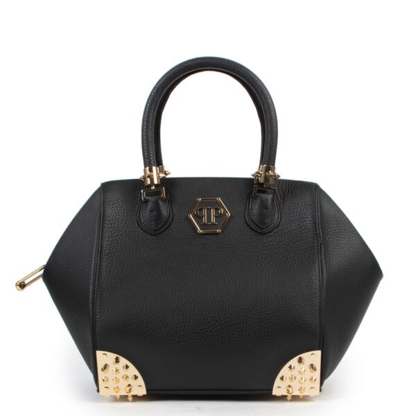 Shop safe online 100% authentic second hand Philipp Plein Black Top handle in very good condition at the right price at Labellov in Antwerp.