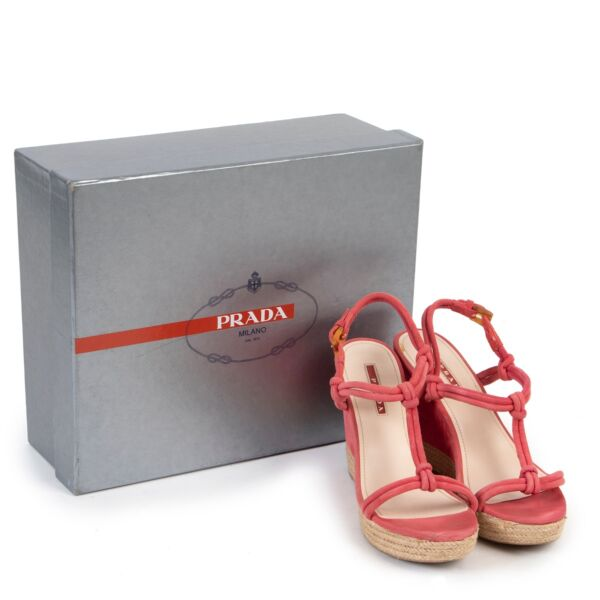 Prada Pink Wedge Heels - Size 37,5