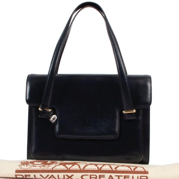 Delvaux Blue Shoulder Bag