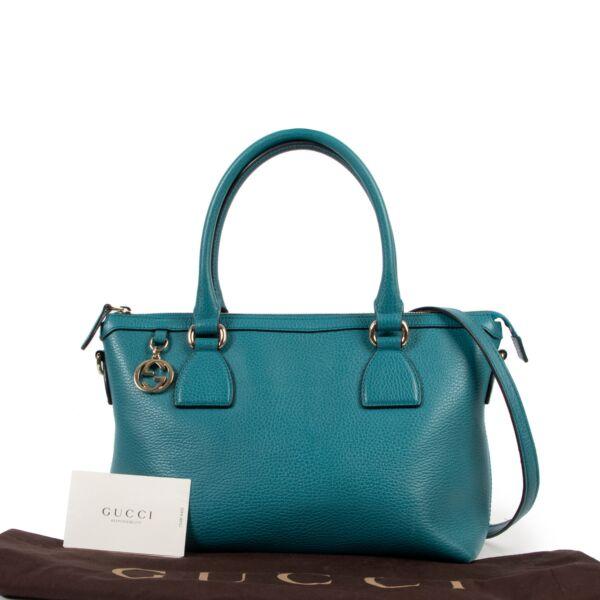 Gucci Teal GG Charm Shoulder Bag