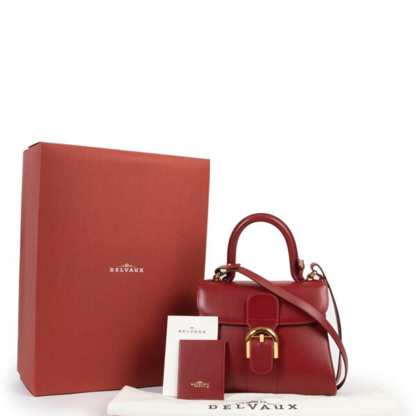 Delvaux Red Jumping PM Brillant