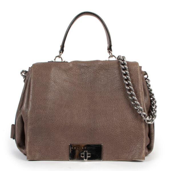 Celine Taupe Watch Me Work Bag