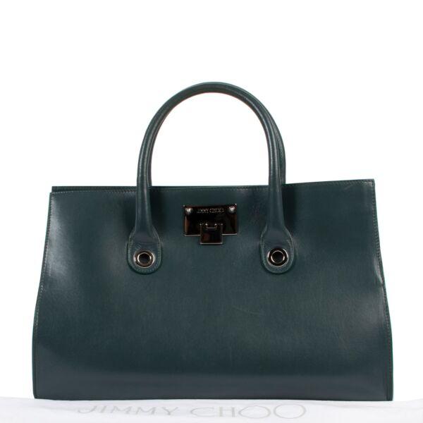 Jimmy Choo Teal Green Tote Bag