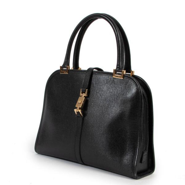 Gucci Black Leather Piston Day Bag