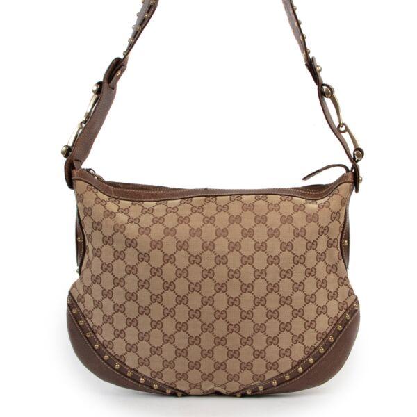 Gucci Monogram Hobo Web Bag