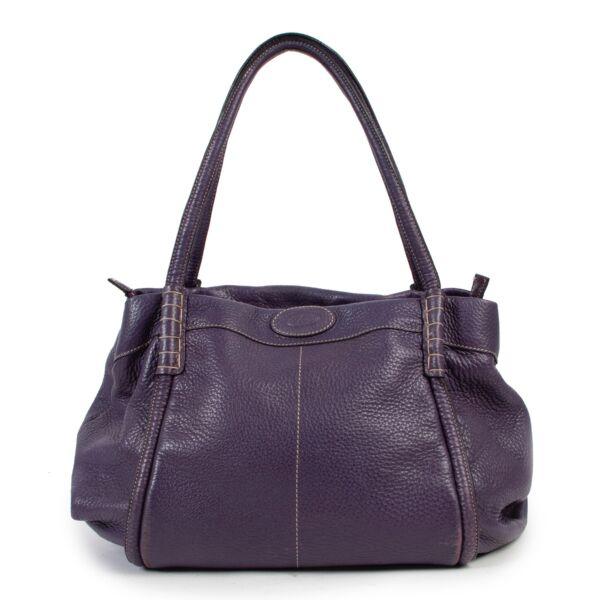 Tods Purple Shoulder Bag
