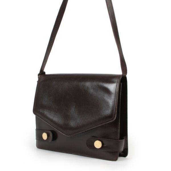 Delvaux Dark Brown Shoulder Bag