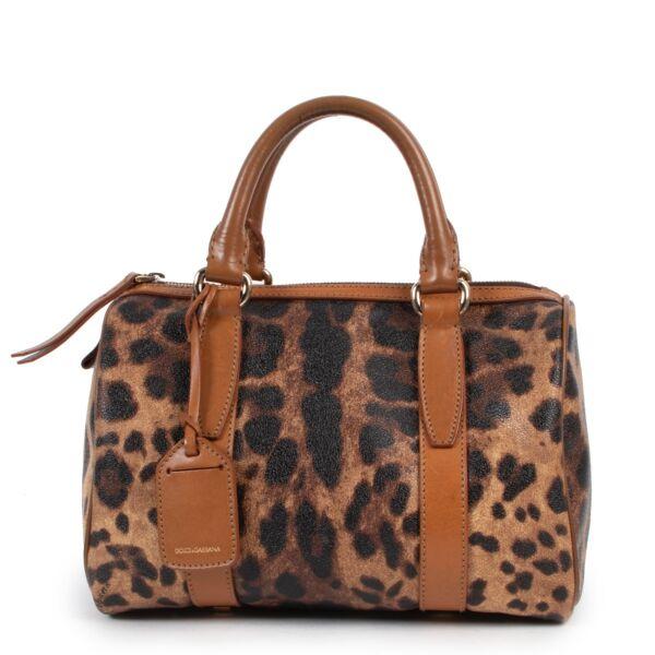 Dolce & Gabbana Leopard Boston Top Handle