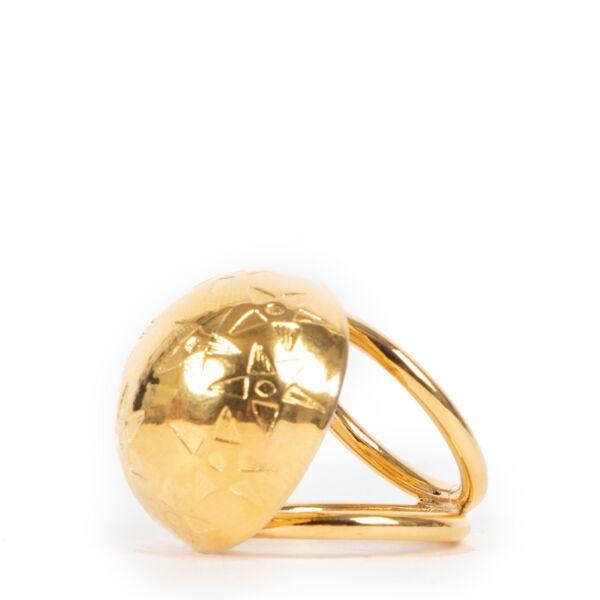 Celine Gold Star Sphere Scarf Ring