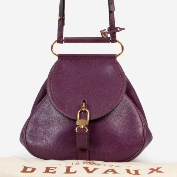 Delvaux Purple Cerceau Shoulder Bag
