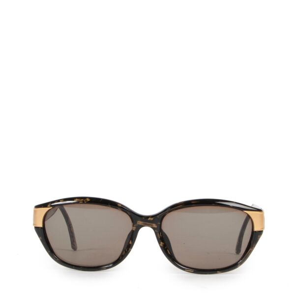 Get these Christian Dior Black Glasses with gold detail now at Labellov!